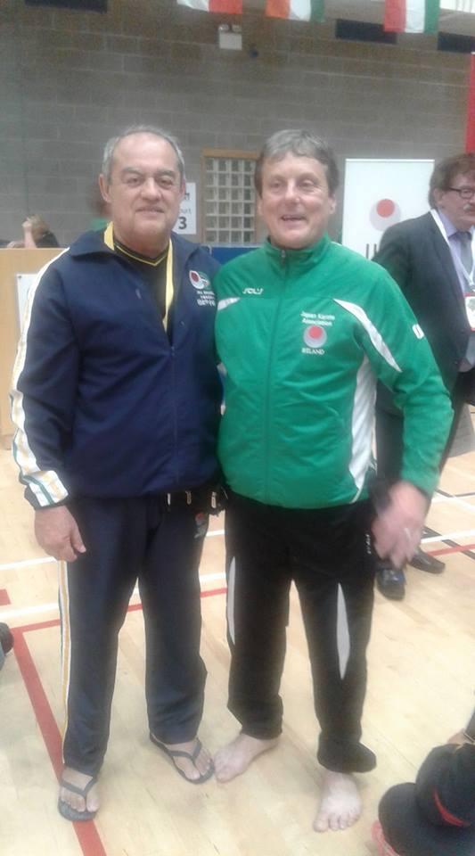 Sensei Gerson Carlos de Almeida e Sensei Barry Oregan (Irlanda)